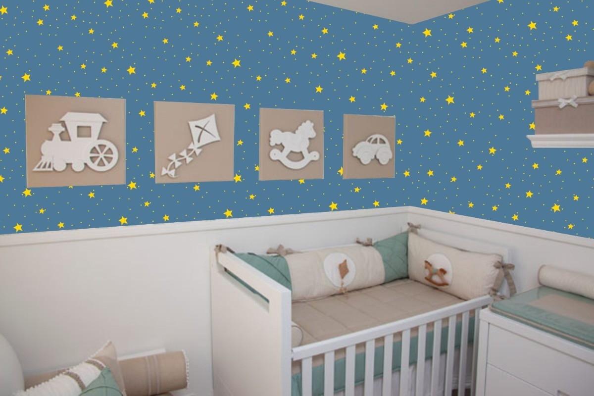 Papel de parede estrelas no elo7 crie decore 5d28ec - Papel decorado para paredes ...