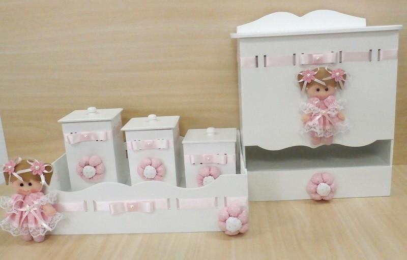 Kit Higiene Decoração Quarto Bebê CX002  Imagine Art Presentes  Elo7