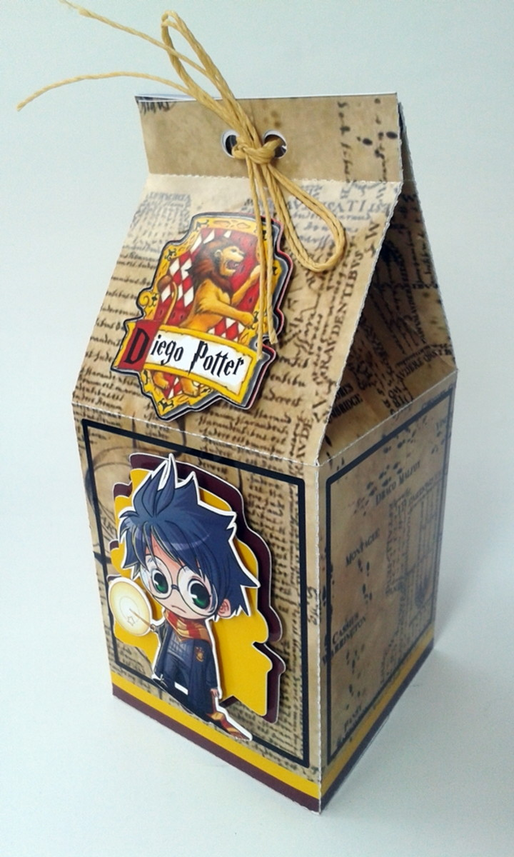 Caixa milk harry potter no elo7 ateli feito com arte - Rone harry potter ...
