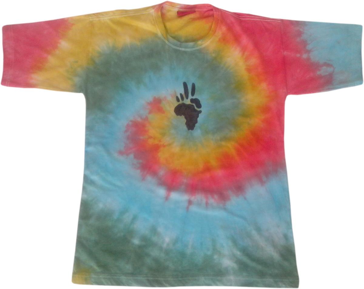19aeb91a8a camiseta tie dye espiral com estampa peace afrika no Elo7