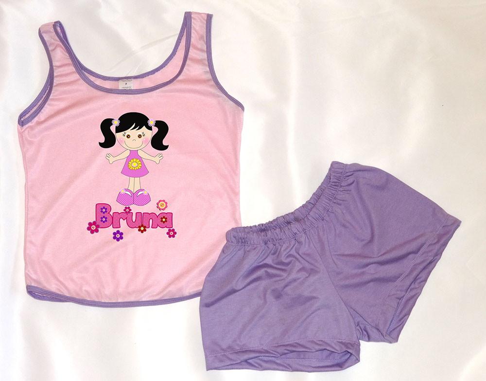 56a1978a4 Pijama Feminino Personalizado com nome no Elo7