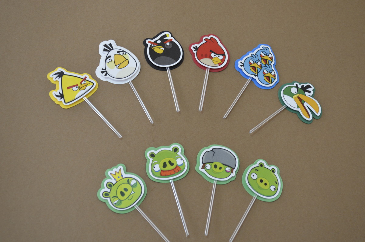 Toppers Personagens Angry Birds: Tag / Topper Angry Birds No Elo7