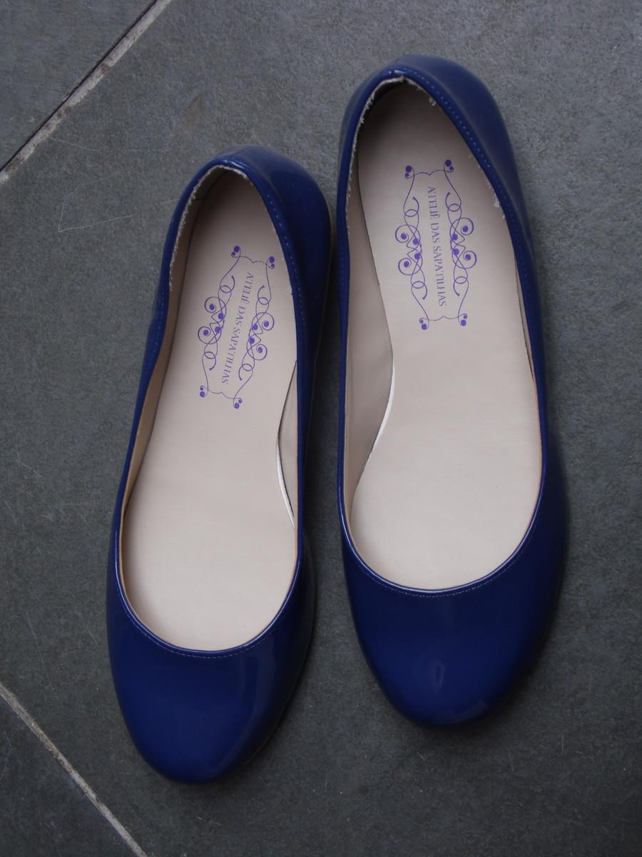 c3aac3b5b4 Sapatilha Verniz - Azul no Elo7