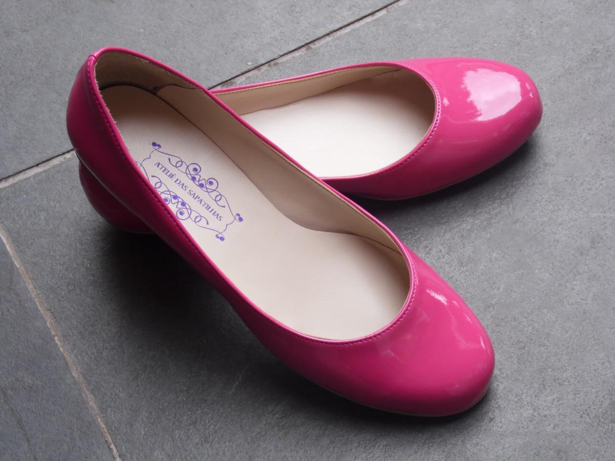 f5340ad696 Sapatilha Verniz - Pink no Elo7