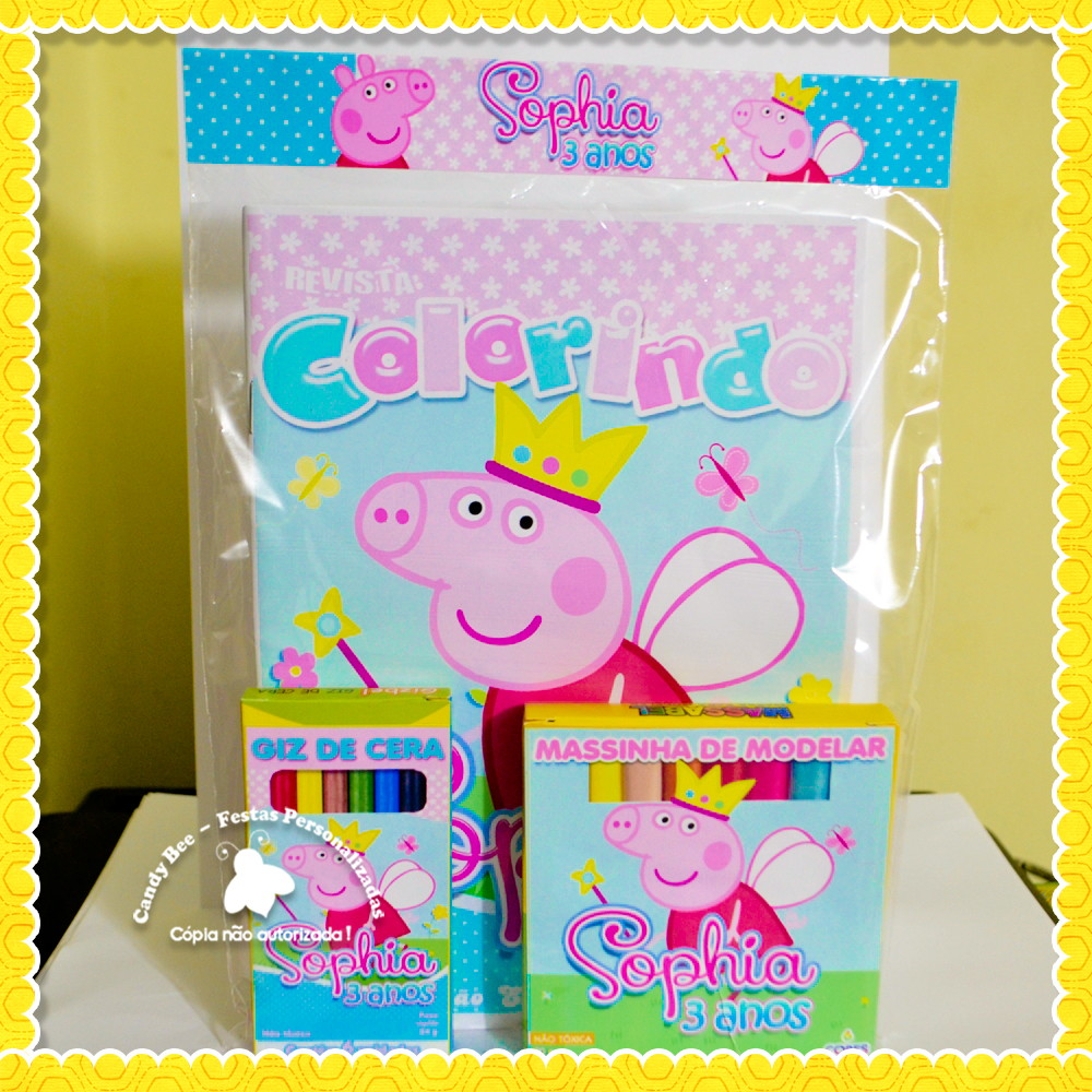 Zoom · Kit Colorir + Massinha Peppa Pig