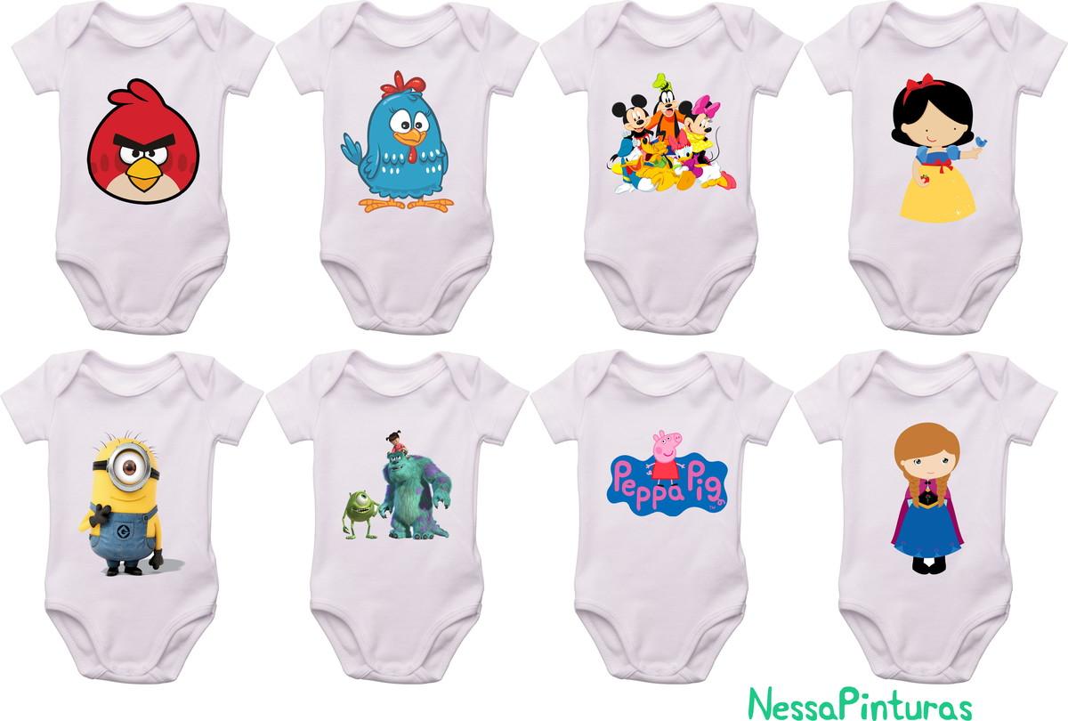 Body Mesversario Angry Birds Kit No Elo7: Body Para Bebê Personagem No Elo7