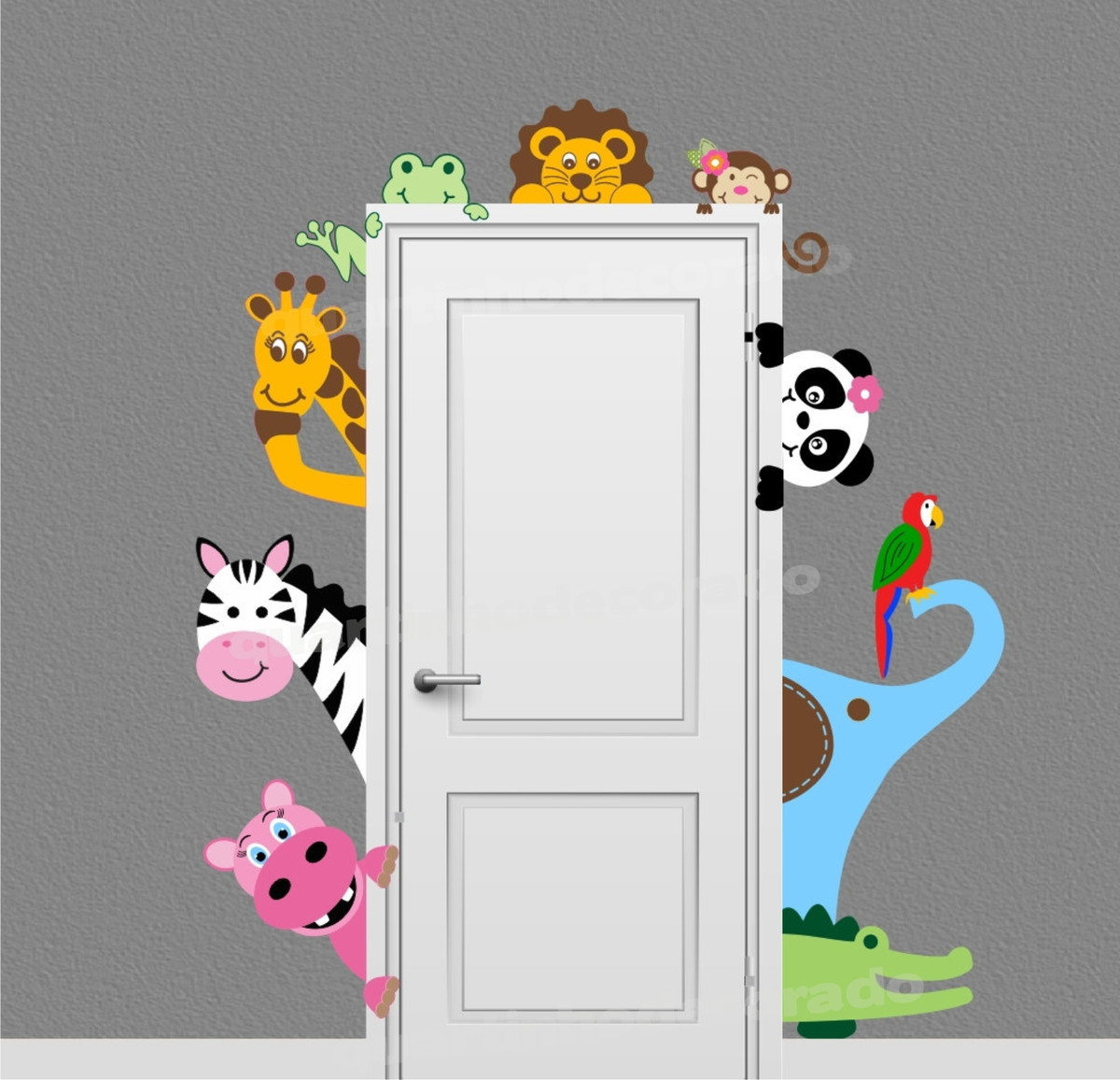 Adesivo Safari Infantil Tam G Mod 64 Quartinhodecorado Elo7 ~ Quarto De Bebê Safari E Quarto De Bebe Criativo