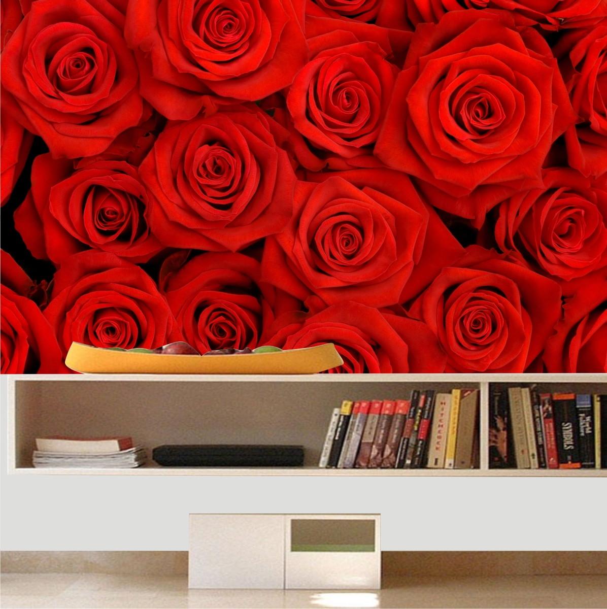 Adesivo papel parede rosas flores quartinhodecorado elo7 - Papel para paredes decorativo ...
