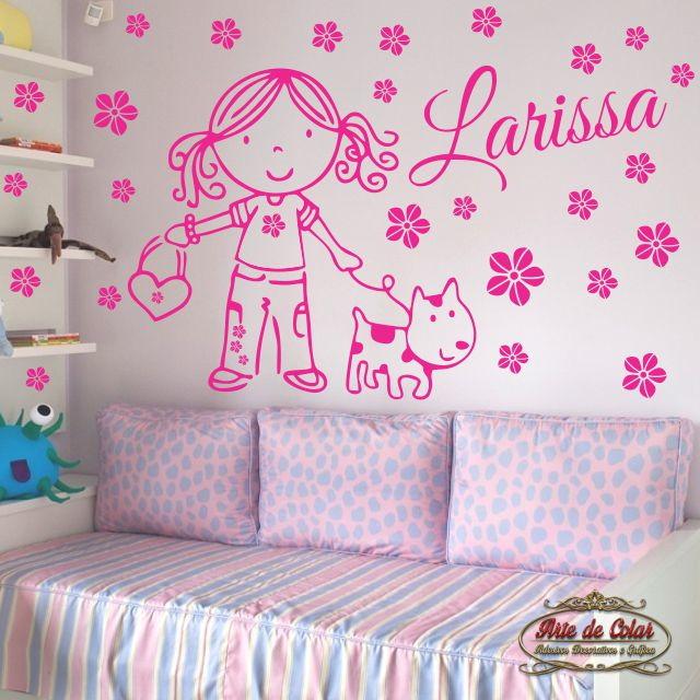 Adesivo de Parede Decorativo Infantil 03 Arte de Colar  ~ Adesivos De Parede Para Quarto Manaus