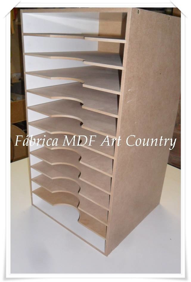Arm rio organizador para scrap f brica mdf art country for Papel pintado para puertas de armario