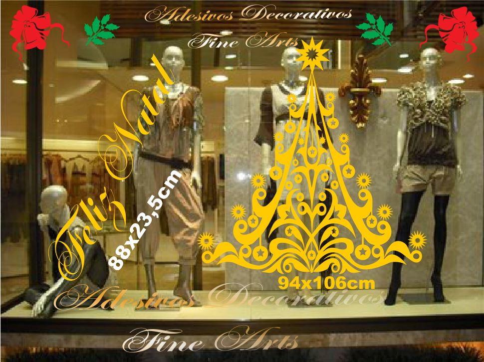 Adesivo Vitrines Natal e Ano Novo oferta no Elo7 Adesivos Decorativos Fine Arts (5F3665) -> Decoração De Outono Para Lojas
