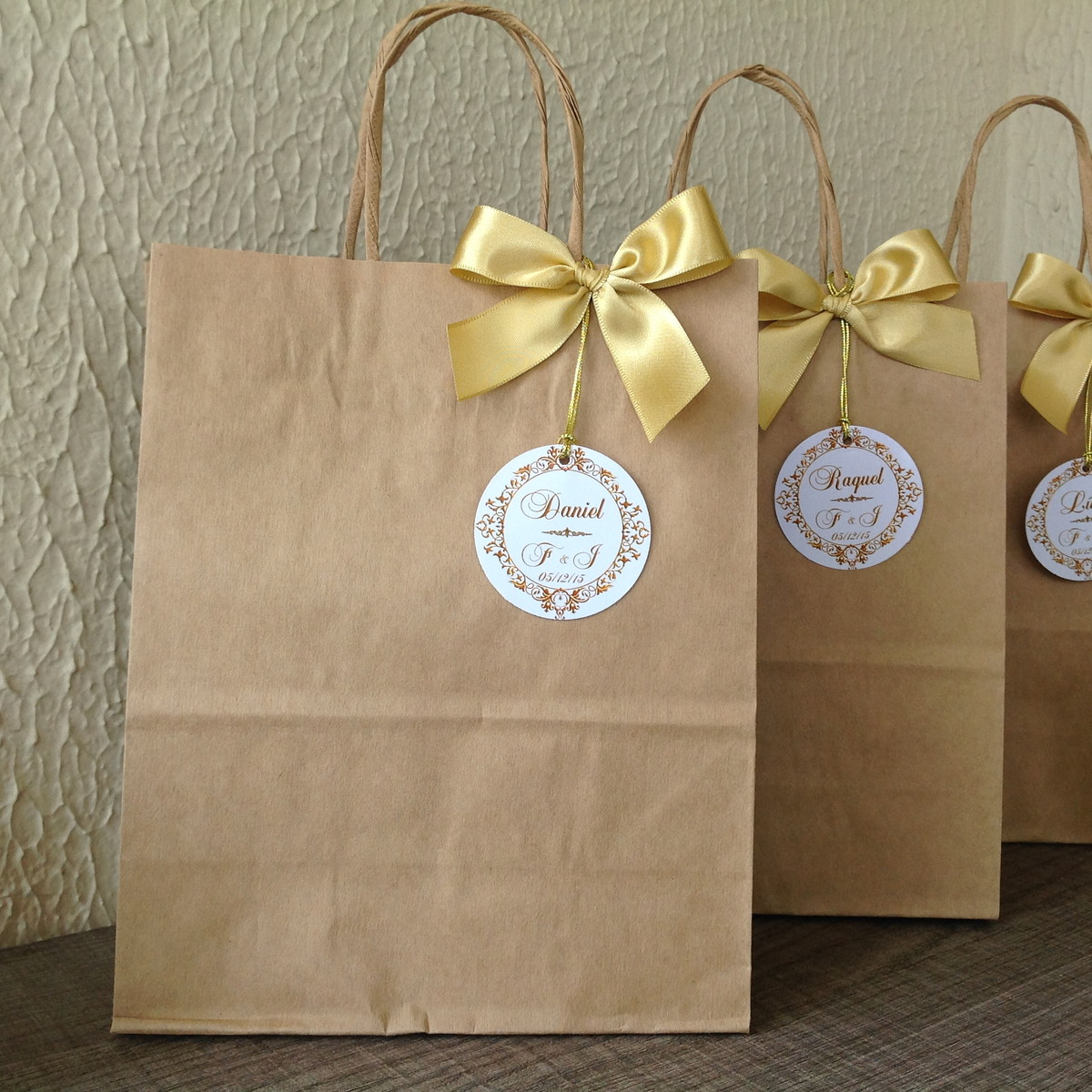 Bolsa De Papel Personalizada Casamento : Sacolas personalizadas casamento no elo mimos