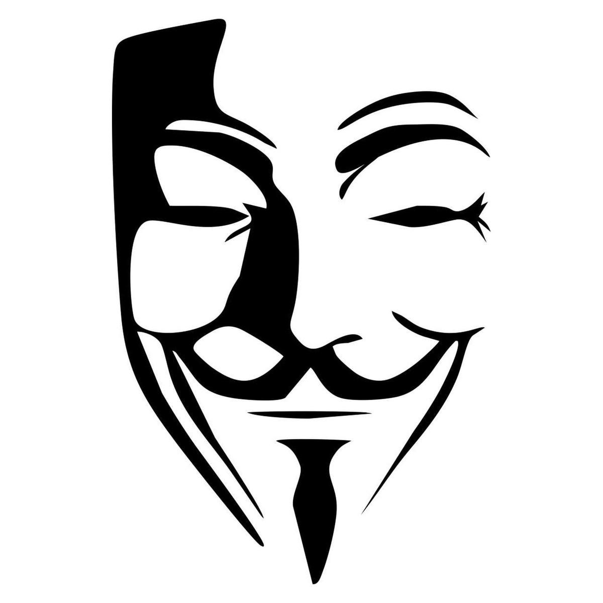 Aparador De Pelos No Mercado Livre ~ Adesivo Anonymous V For Vendetta no Elo7 QUEEN IND u00daSTRIA DE ADESIVOS (5E513C)