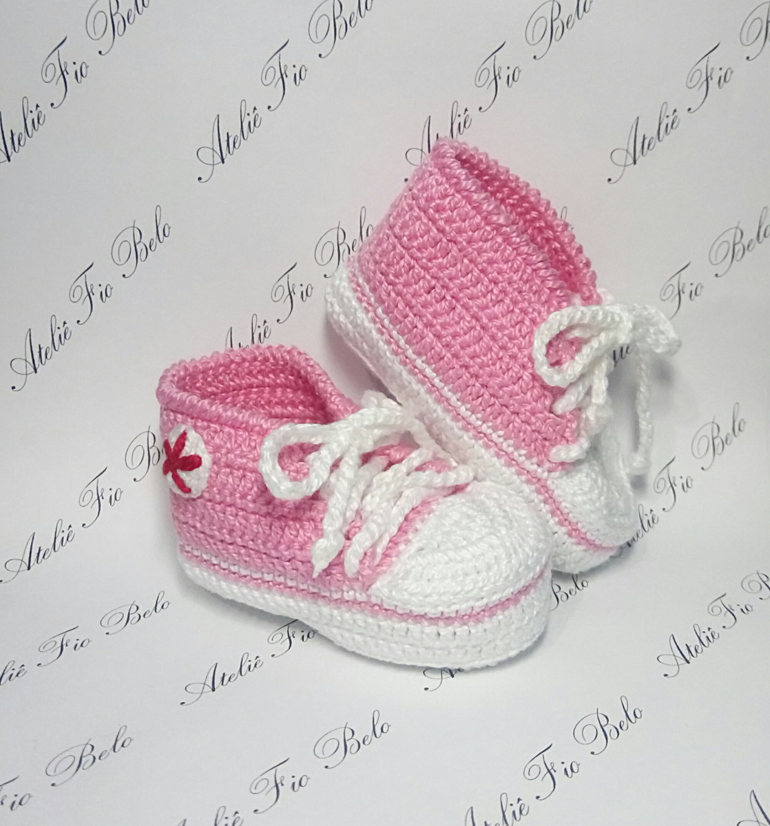9406f4839db Tênis All Star Baby Rosa no Elo7