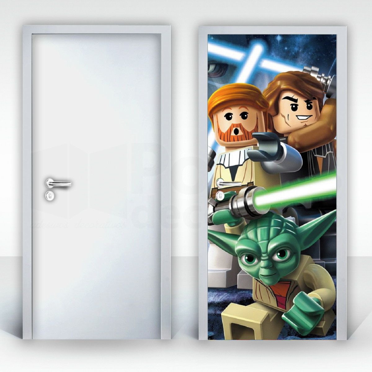 Adesivo Porta Lego Star Wars Crie Decore Elo7 ~ Decoração De Quarto Star Wars E Pintura Quarto De Menina