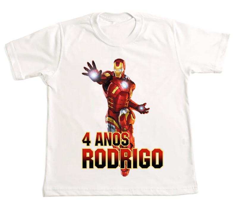 Camiseta Personalizada homem de ferro no Elo7  05ba125ccdaa1
