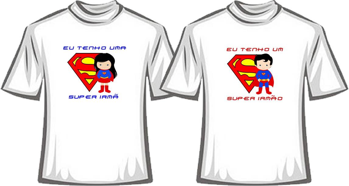 7b7fa7bef Kit - Camisetas Super Irmã e Super Irmão no Elo7