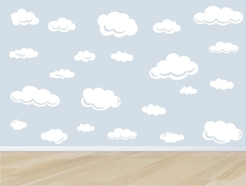 Armario Modulado Quarto Casas Bahia ~ adesivo parede infantil nuvem nuvens m03 QuartinhoDecorado Elo7