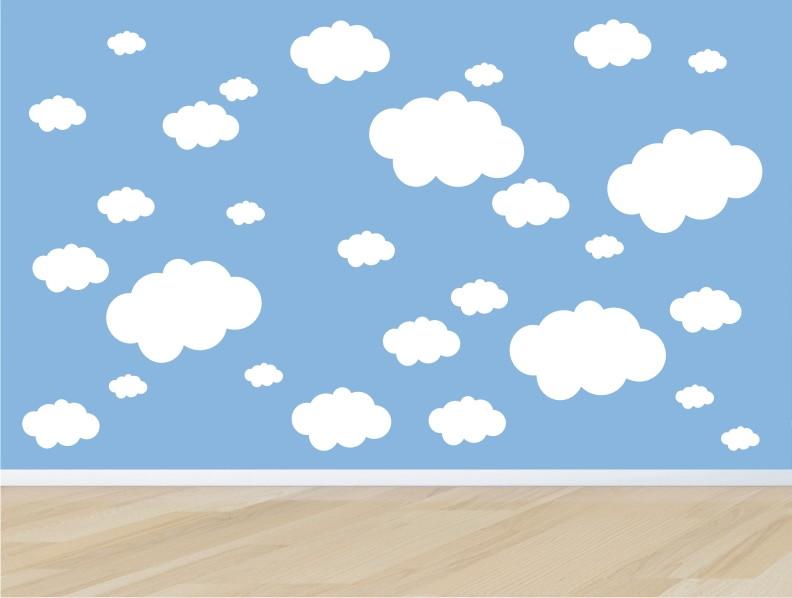 Aparador Livro Xadrez ~ adesivo infantil parede nuvem nuvens m05 no Elo7 QuartinhoDecorado (5FD939)