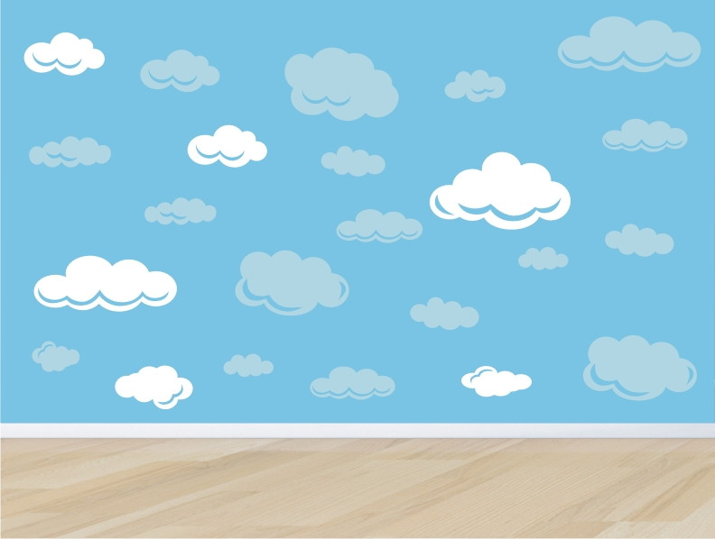 adesivo nuvem nuvens quarto infantil m08 no Elo7 QuartinhoDecorado (5FD946)