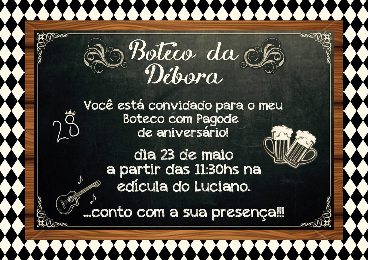 Convite Digital Boteco No Elo7 Luciana Paro Monteiro 5fff0c