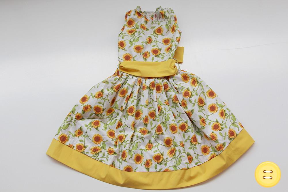 8e76802375 Vestido Floral Girassol - 6 anos no Elo7