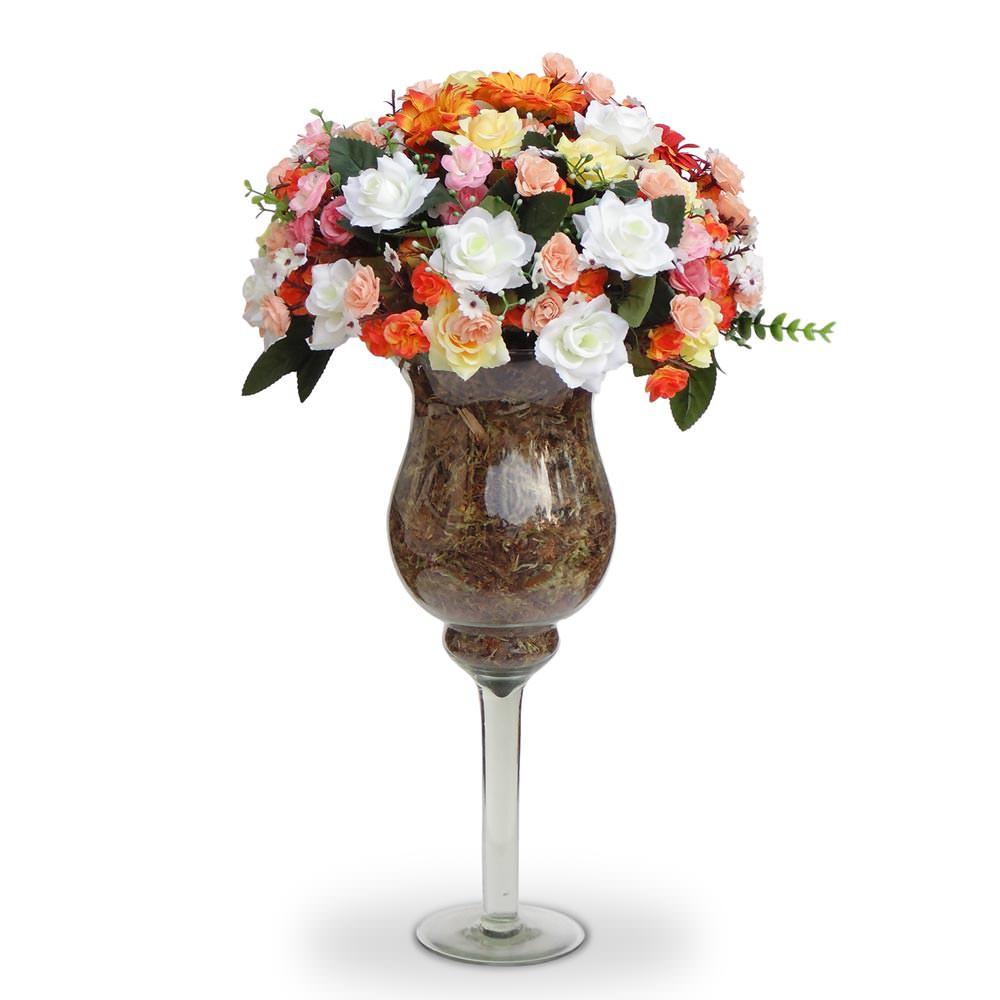Arranjo de flores artificiais decoracao no Elo7 Felicitadecor (607076) -> Decoração Arranjos De Flores Artificiais