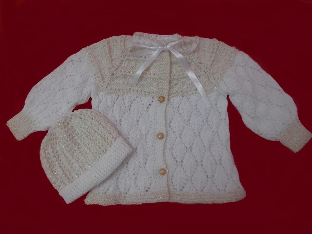 Casaco para bebê 2anos em tricô à mão no Elo7   Roupas de bebê ... 83fa3187cc