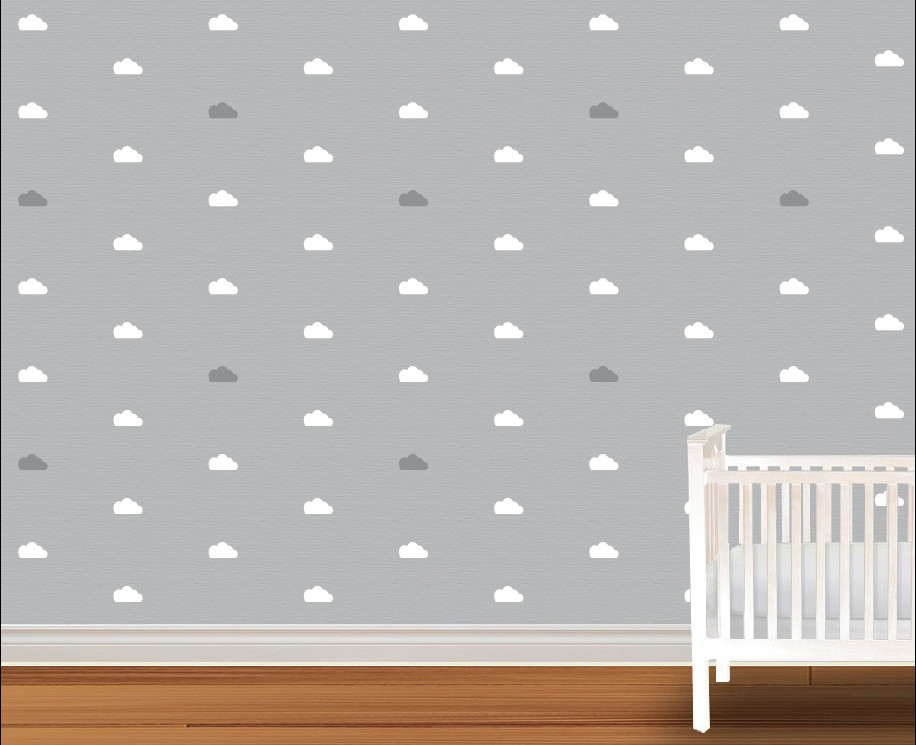Armario Modulado Quarto Casas Bahia ~ Nuvens diversas cores Adesivos parede no Elo7 Mini Atelier (5C2480)