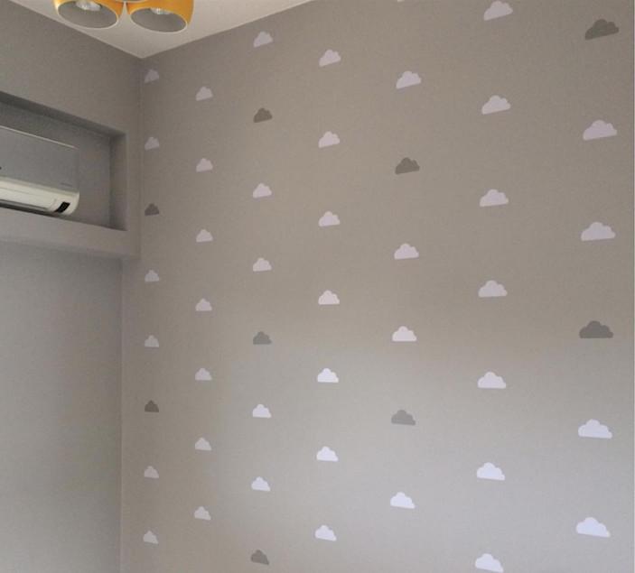 Artesanato Folclore Regiao Nordeste ~ Nuvens diversas cores Adesivos parede Mini Atelier Elo7
