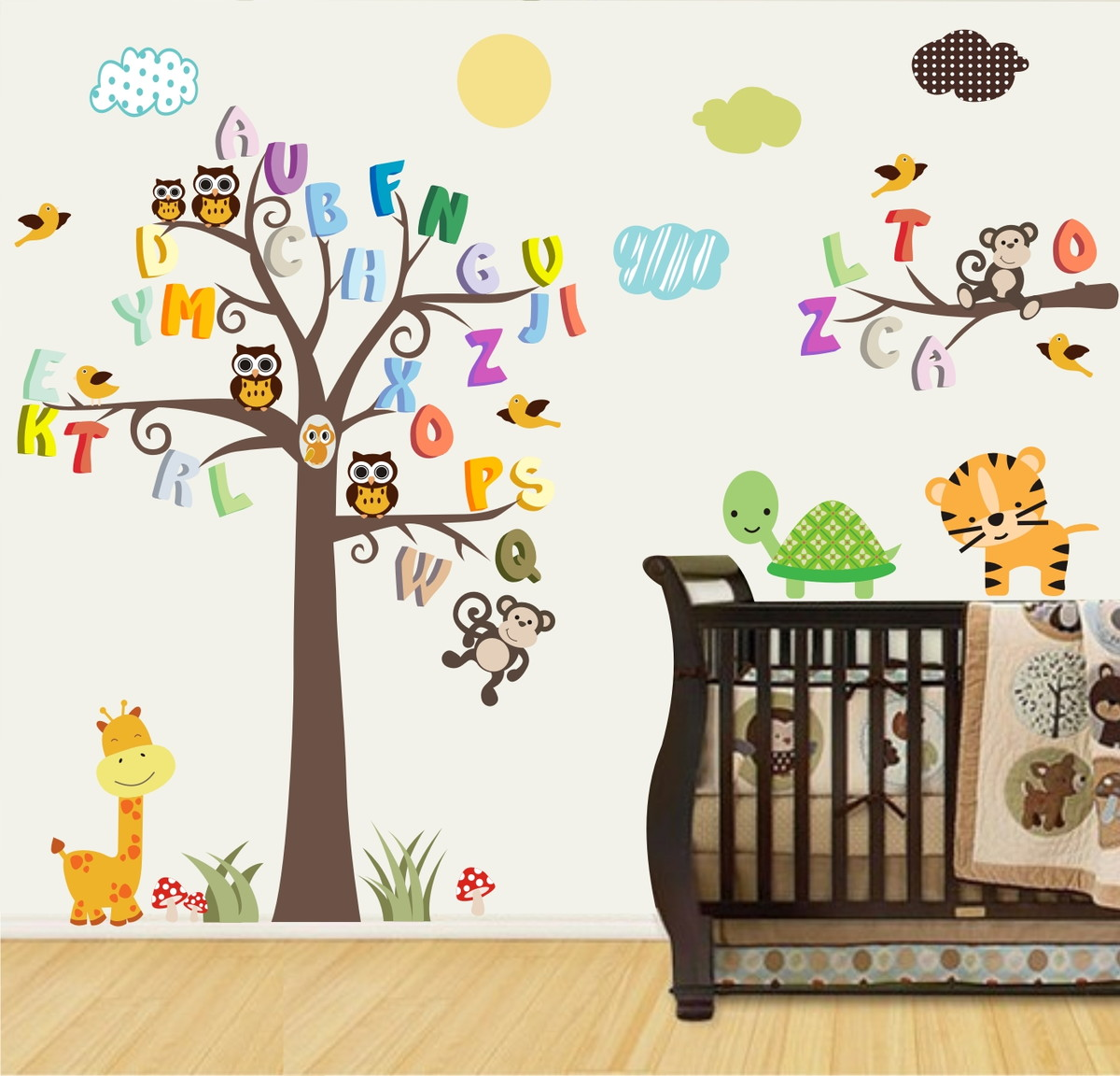 Artesanato Mobile Infantil Passo A Passo ~ Adesivo Arvore Infantil mod 99 QuartinhoDecorado Elo7