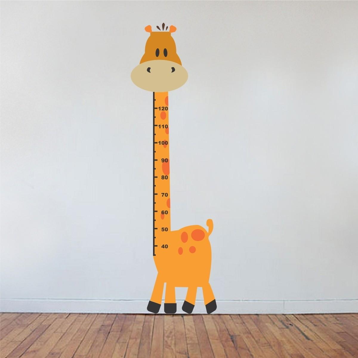 Adesivo Girafa Regua Metrica Infantil No Elo7