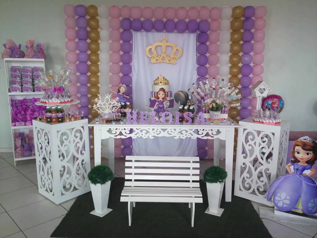 Decoraç u00e3o Provençal Princesa Sofia no Elo7 Bee House Festas (613C8C) -> Decoração De Aniversário Princesa Sofia