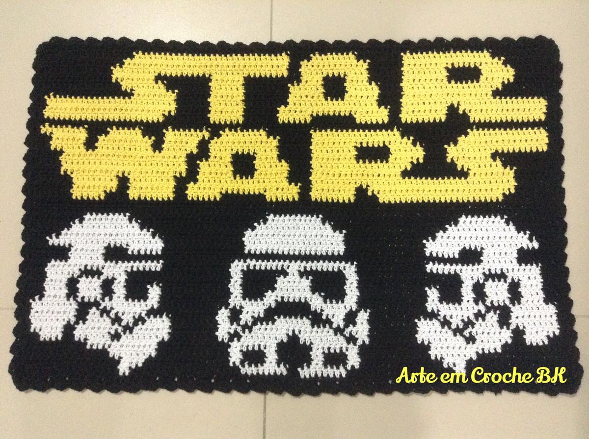 tapete croche star wars no elo7 arte em croche bk 616e3b. Black Bedroom Furniture Sets. Home Design Ideas