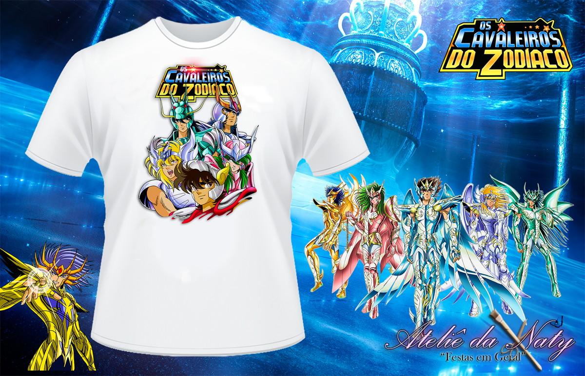 c497bbc06 Camisetas - Cavaleiros do Zodíaco no Elo7