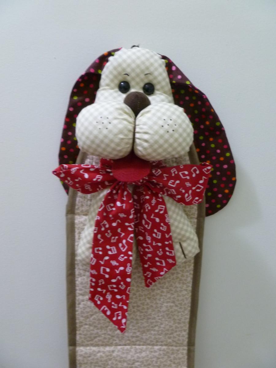 Cachorro porta papel higi nico 03 rolos kawa artesanato for Colgadores para papel higienico