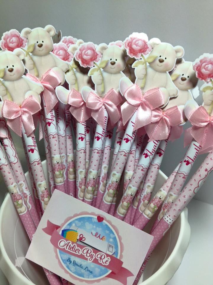 Lembrança maternidade lápis com ponteira no Elo7   Atelier ...