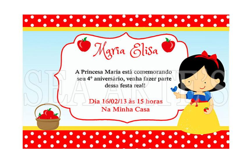 Arte Convite Digital Branca De Neve No Elo7 Sea Artes 4f65dd
