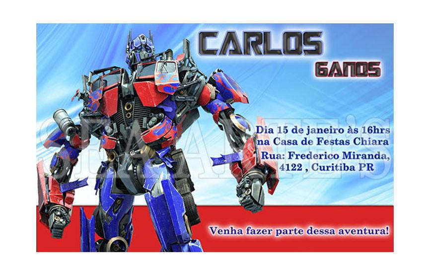 Arte Convite Digital Transformers No Elo7 Sea Artes 46b6c4