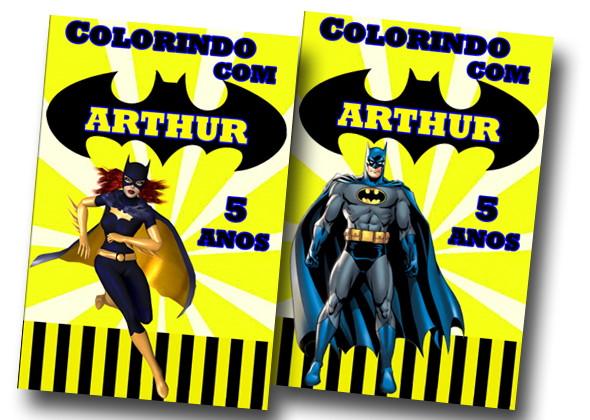 Revista Colorir Batman Batgirl 14x10 No Elo7 Tudo De Festa