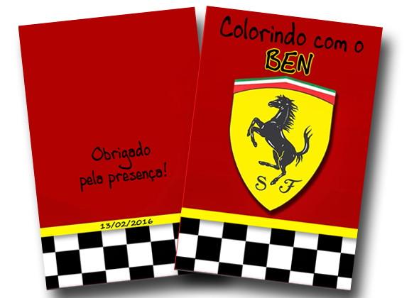 Revista Colorir Ferrari 14x10 No Elo7 Tudo De Festa Galvao 6267a5