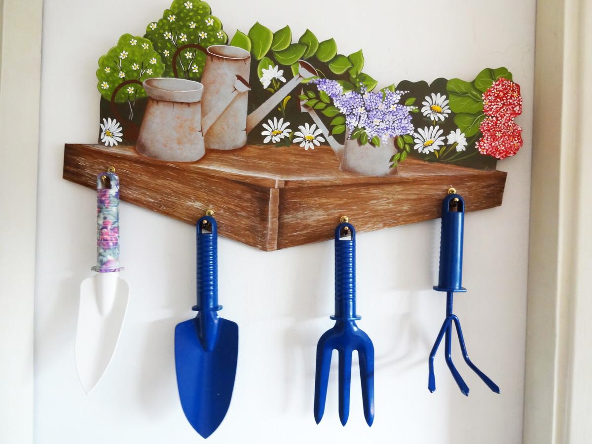 Porta ferramentas de jardinagem no Elo7 | Artesanatos Nossa Canaã ...