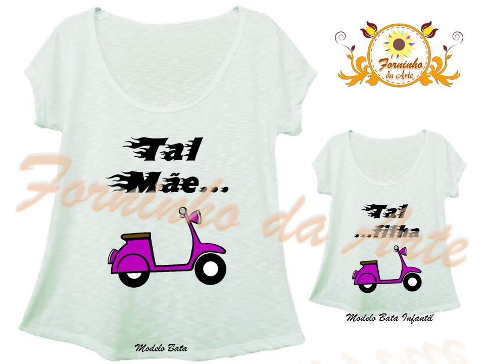 4b20560fa Camisetas Personalizadas Modelo Bata kit no Elo7