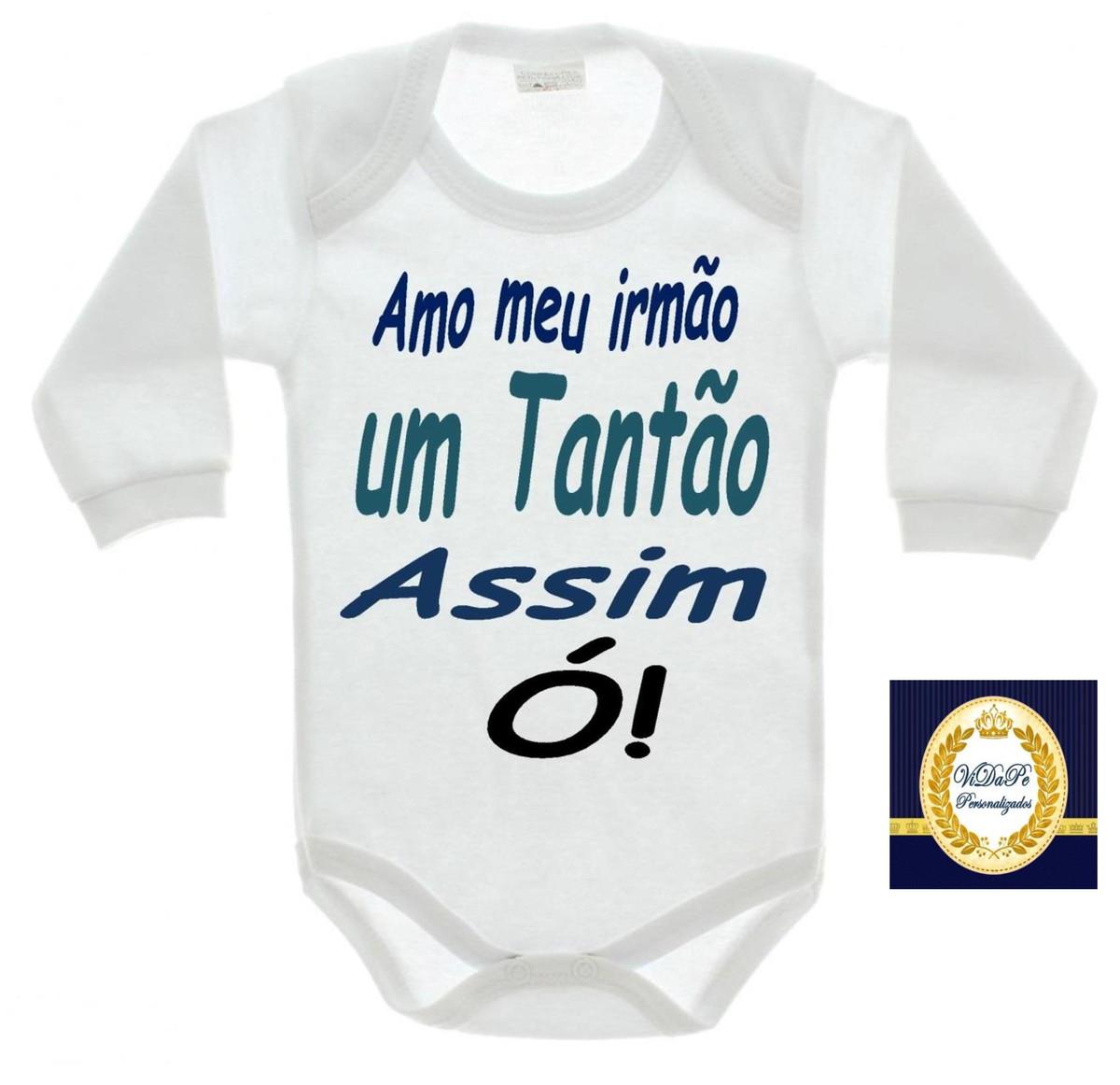 Body Bebe Personalizado Frase Irmão No Elo7 Gracinha Baby 62c6af