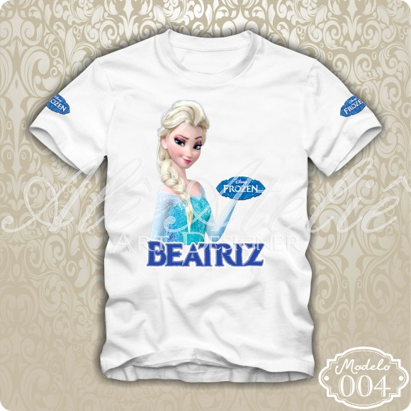 904b3c022823c1 Camisa Frozen Disney Personalizada