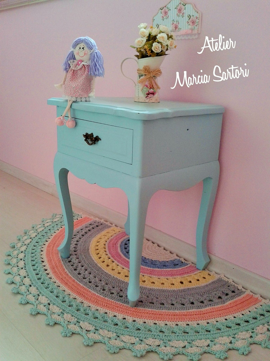 tapete meia lua marcia sartori elo7. Black Bedroom Furniture Sets. Home Design Ideas