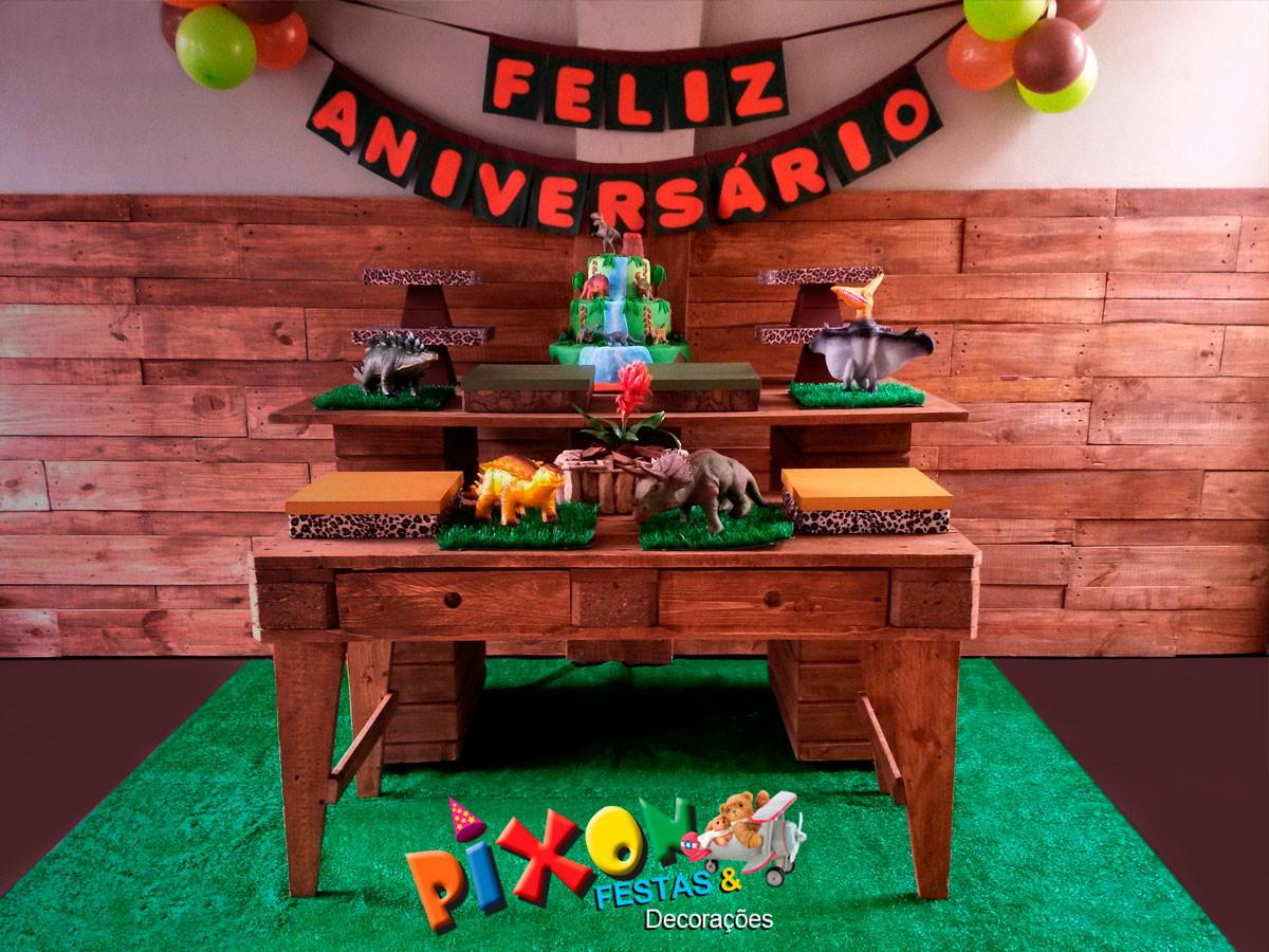 Kit Decoraç u00e3o Dinossauros Festa Infantil no Elo7 Decoraç u00e3o de Festas Pixon (633975) -> Decoraçao De Dinossauro Para Festa Infantil