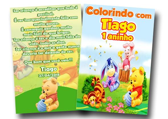 Revista De Colorir Ursinho Pooh 14x10 No Elo7 Tudo De Festa