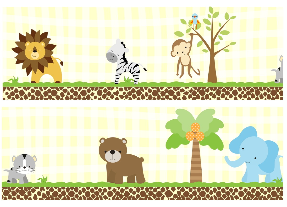 Adesivo Safari ~ ADESIVO FAIXA SAFARI COD 12 no Elo7 QuartinhoDecorado (372090)