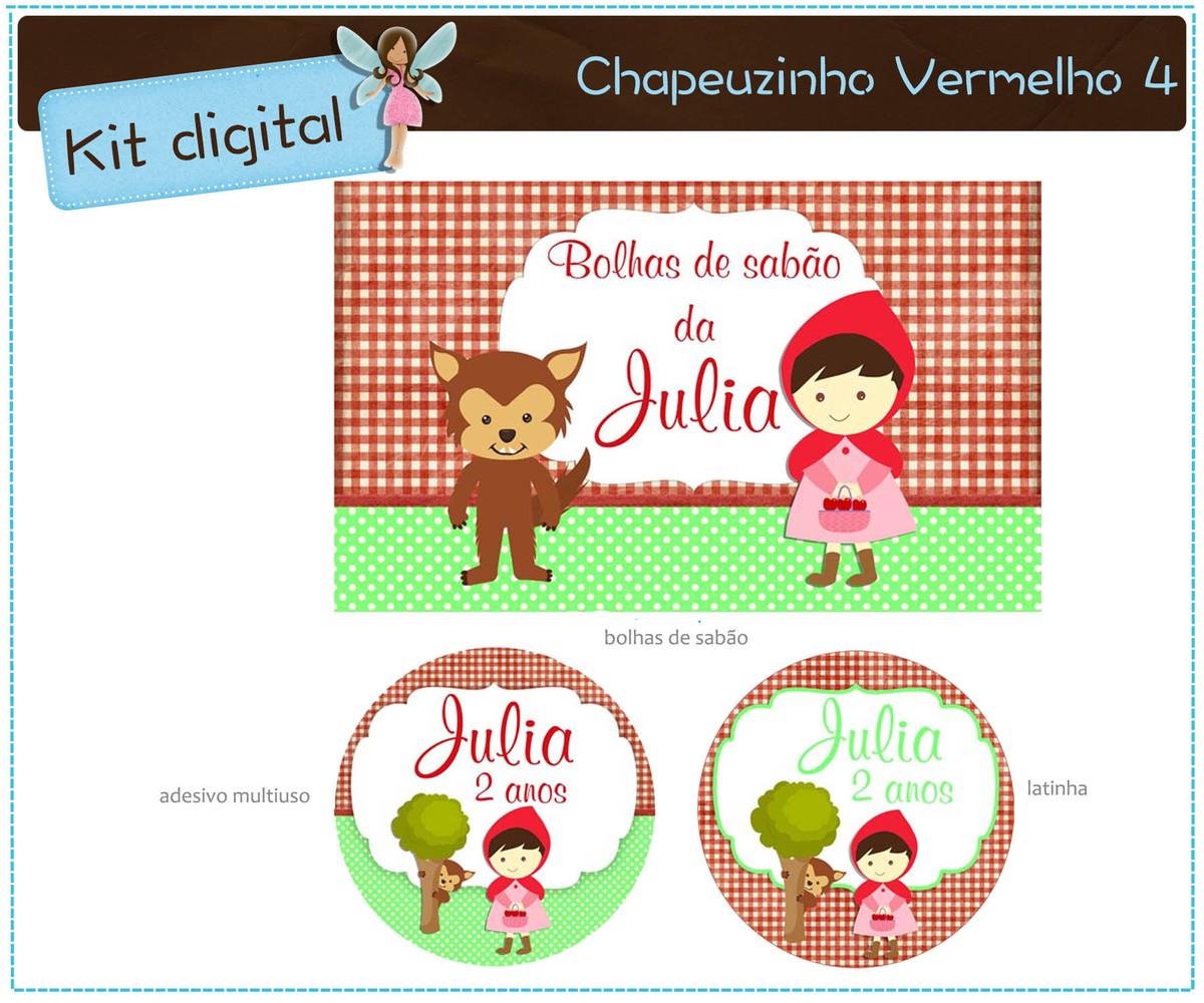 Kit Digital Chapeuzinho Vermelho Para Imprimir No Elo7 Atelier